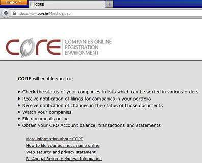 Core.cro.ie Screenshot