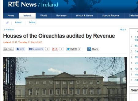 Oireachtas Revenue Audit - RTE