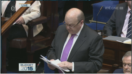Michael Noonan announces Budget 2015.